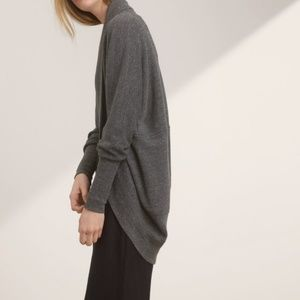 Aritzia Wilfred Diderot Studded Open Grey Cardigan